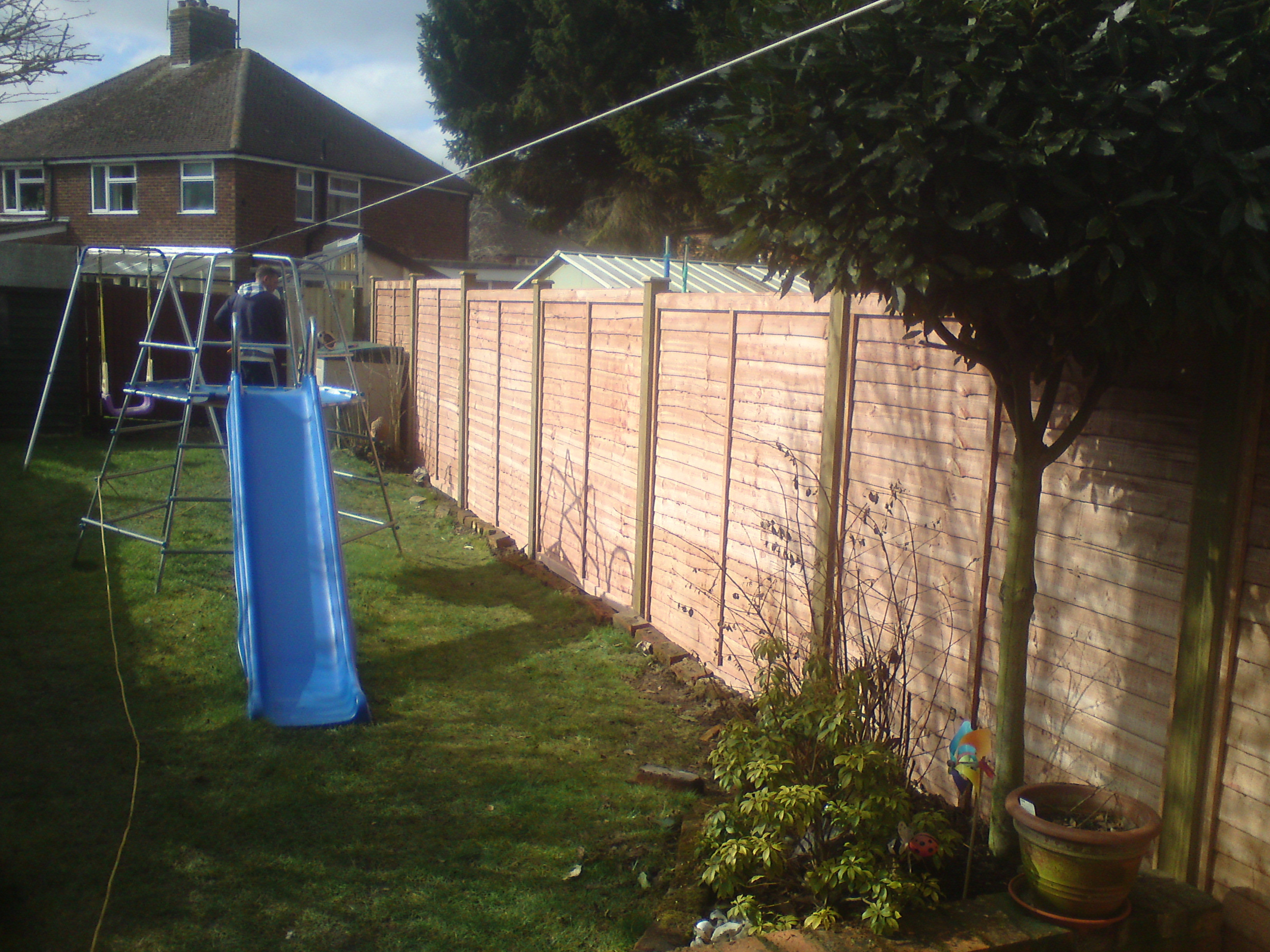 6 High Panels On 4x4 Inch Posts Quality Fencing And Gates